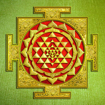 Sri gold yantra by Lila Shravani