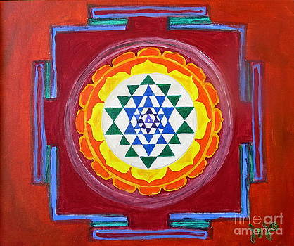 Sri Yantra by Jodie  Scheller