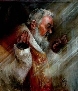 SS Padre Pio at Matins by Elisabeth Nussy Denzler von Botha