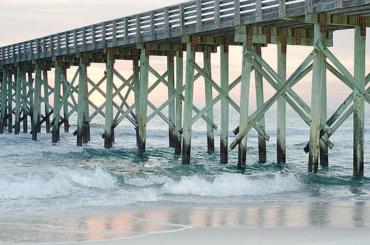 St. Andrews State Park Pier in Winter by April Moran