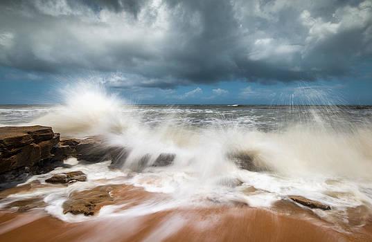 St. Augustine FL Beach Seascape Crashing Waves by Dave Allen
