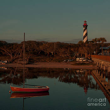 Kathi Shotwell - St. Augustine Lighthouse Beach Early Morning color