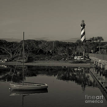 Kathi Shotwell - St. Augustine Lighthouse Beach Early Morning monochrome