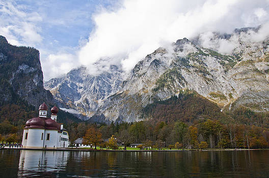 St. Bartholomew on Lake Konigssee by Russell Todd