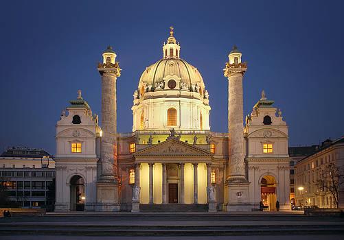 St. Charles's Church - Vienna by Marc Huebner