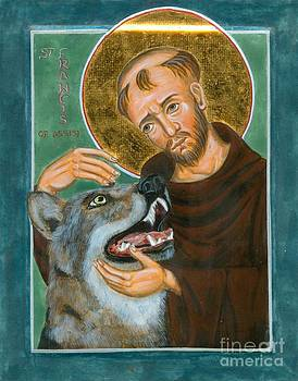 St Francis and the Wolf of Gubbio by Juliet Venter Icons Illuminations