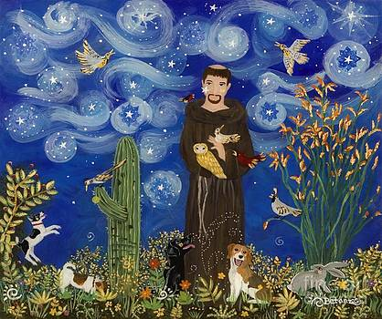 St. Francis Starry Night by Sue Betanzos