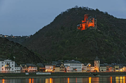 St. Goarshausen and Katz Castle Germany by David Davies