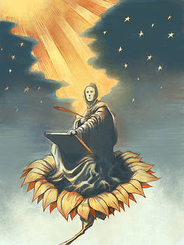 St John at Patmos by David Leiberg