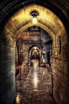 St. John's sanctuary hallway by Dan Quam