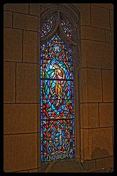 St. Johns stained glass artwork by Dan Quam