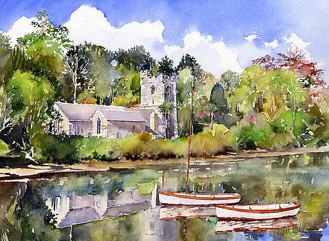 St Just in Roseland Church by Margaret Merry