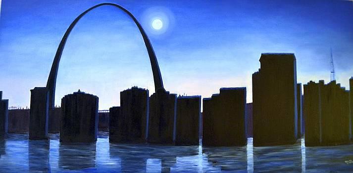 St Louis Arch by Usha Rai