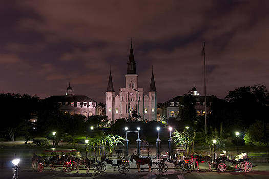 St. Louis Cathedral in Jackson Square by Gej Jones