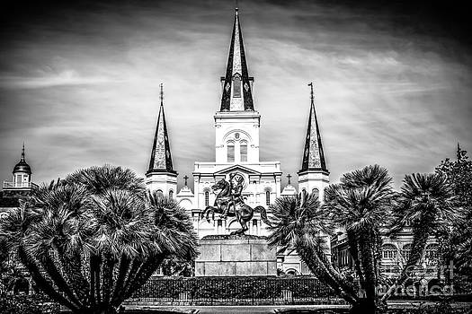Paul Velgos - St. Louis Cathedral in New Orleans Black and White Picture