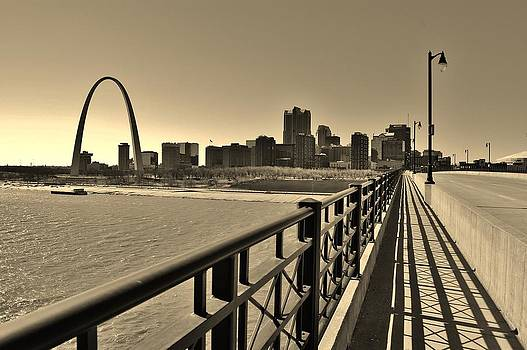 St. Louis Missouri from the Eads Bridge by John P Houlihan