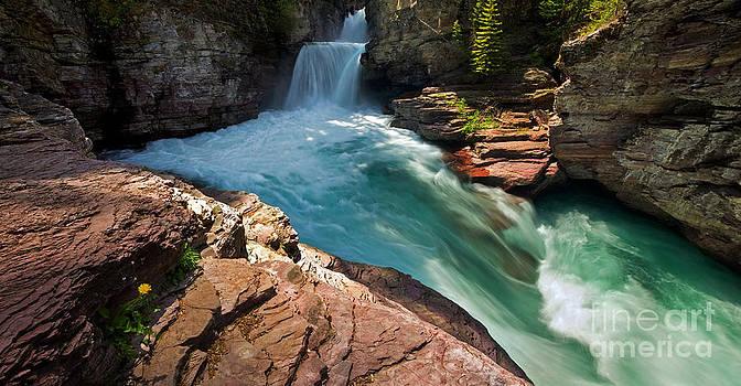 St Mary Falls - Glacier National Park by Matt Tilghman