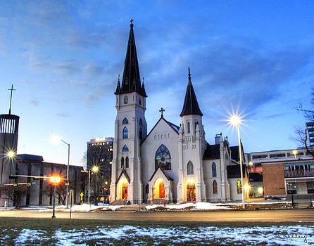 St Marys Catholic Church- Lincoln Nebraska by Andrea Kelley