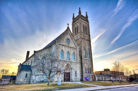 St. Mary's Church Milford MA by James Wellman