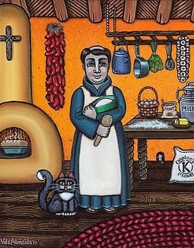 St. Pascual Making Bread by Victoria De Almeida