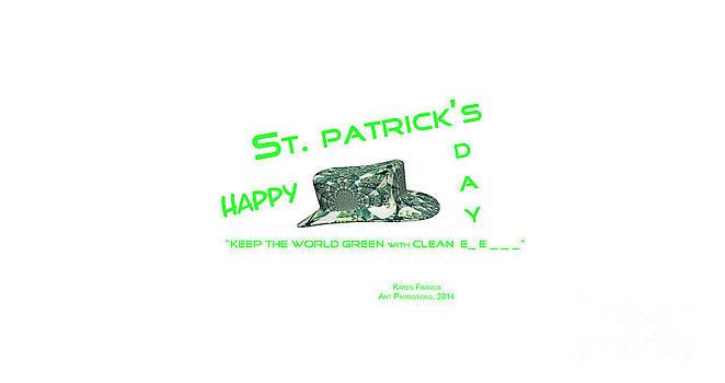 St. Patrick's Day Memphis 3D by Karen Francis