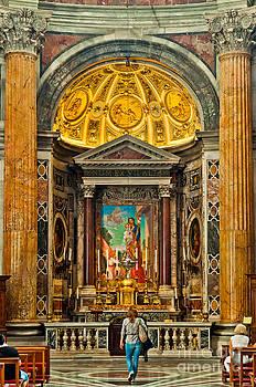 St. Peter's Basilica Altar by Luis Alvarenga
