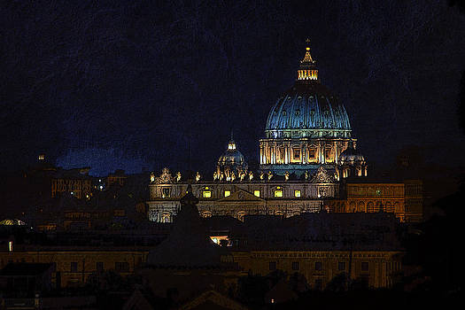 David Pringle - St Peters Basilica at Night