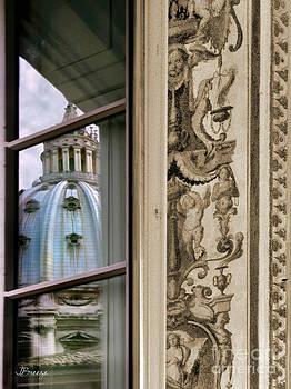 St Peter's Dome Reflected.Rome by Jennie Breeze