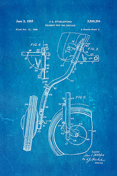 Ian Monk - Stableford Golf Trolley 2 Patent Art 1952 Blueprint