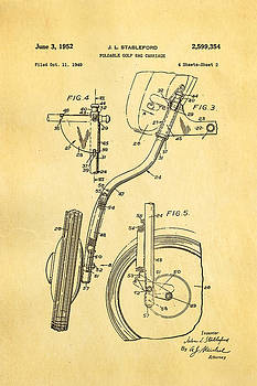Ian Monk - Stableford Golf Trolley 2 Patent Art 1952