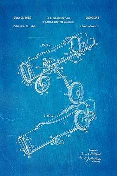 Ian Monk - Stableford Golf Trolley Patent Art 1952 Blueprint
