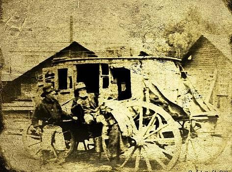 Larry Lamb - Stagecoach tintype