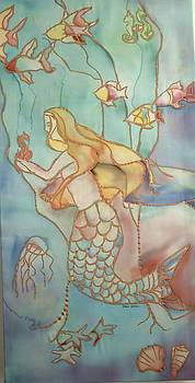 Stain Glass Mermaid by Kari Kline