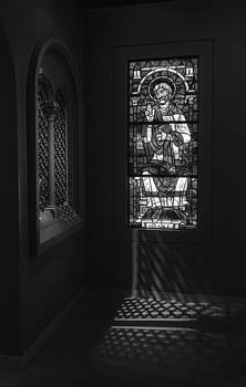 Stained Glass and Shadows - Monochrome by Steve Rosenbach