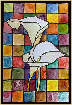 Donna Walsh - Stained Glass Calla Lily