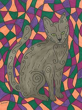 Stained Glass Cat by Susie Weber