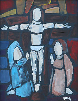 Stained Glass Crucifixion by Greg Willits