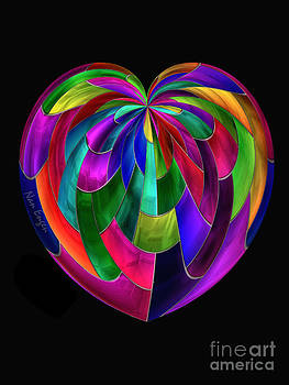 Stained Glass Heart by Nan Engen