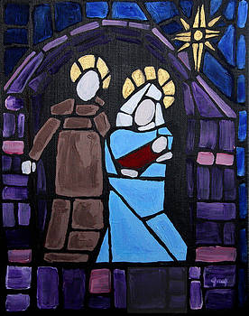Stained Glass Nativity by Greg Willits
