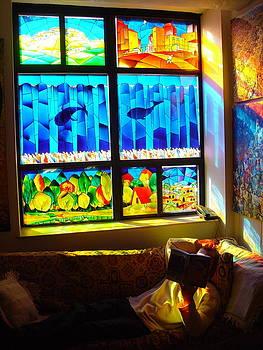 Stained glass window by Avi Gorzhaltsan