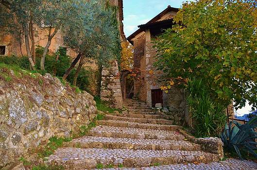 Stairs to the village by Dany Lison