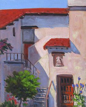 Stairway at Carmel Mission by Rhett Regina Owings