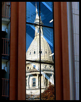 Stairway Dome Reflection by Gene Tatroe