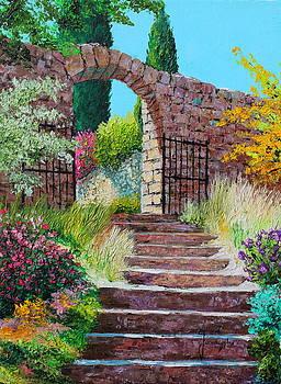 Stairway leading to the garden by Jean-Marc JANIACZYK