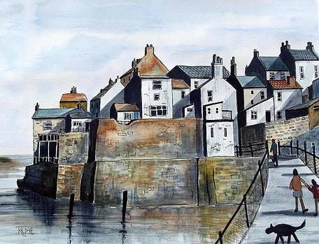 Staithes Houses by Trudy Kepke