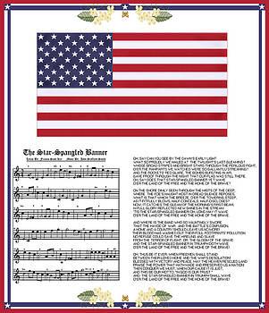 Star Splangled Banner Music  Lyrics and Flag by Anne Norskog