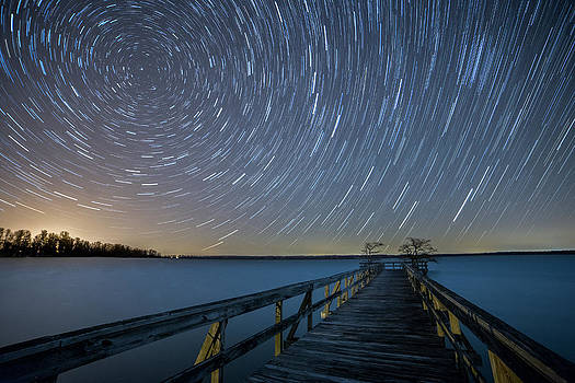 Star Trails over Reelfoot Lake by Benjamin King