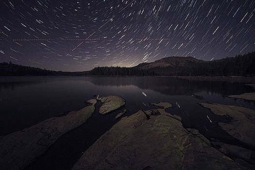 Star Trails Over Silver Lake Resort by Eleanor Caputo