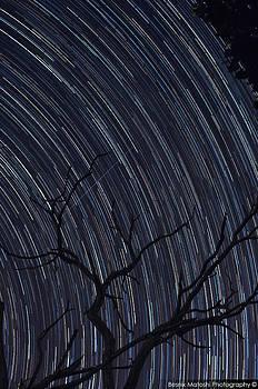 Star Trails over the city of Skopje by Besnik  Matoshi
