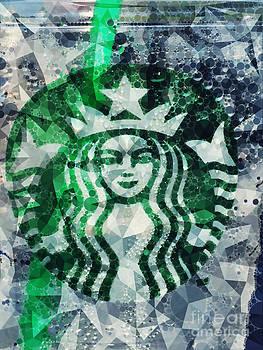 Starbucks in Blue by Rachel Barrett